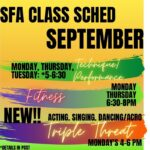 September Classes: Back In Action!