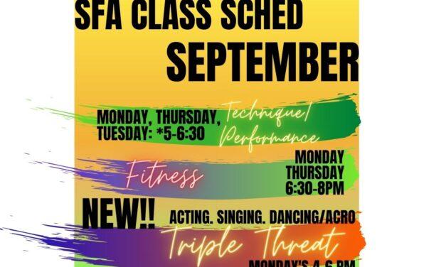 September Classes: Back In Action!