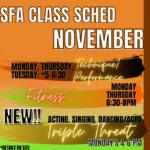 November Classes